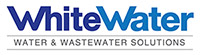 WhiteWater logo representing the facility management division of commercial construction company R.H. White Construction in Auburn, MA