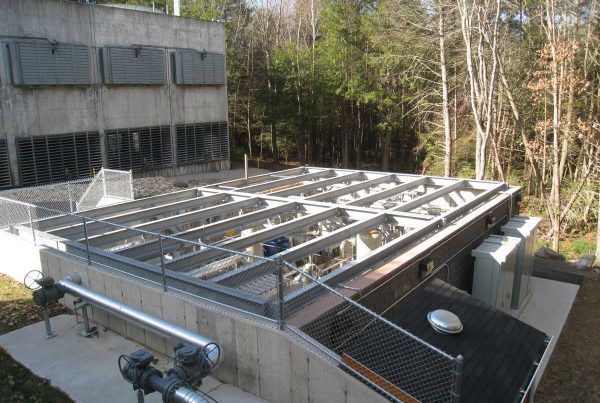 Utility Construction of Distribution Piping by industrial construction company R.H. White Construction servicing the Worcester, MA area